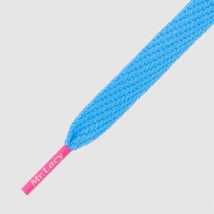 Laces Mr Lacy Flatties Color Tip high quality Shoelaces Mellow Blue /pink 130 cm