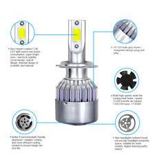 1pcs Car H7 COB LED Headlight Foglight Pure White 1500W 225000LM Bulb 6000K SH2.
