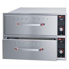 "Hatco HDW-2BN Built-In Narrow Warming Drawer with 2 Drawer and 6"" Deep Food Pan"