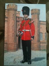 Military Postcard 2nd Royal Regiment of Fusiliers 1981  by Alix Baker