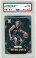 DEVIN BOOKER 2015-2016 Panini Prizm Rookie Card RC PSA 10 Gem Mint #308 Suns