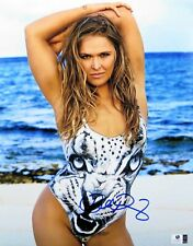 Ronda Rousey Signed Autographed 11X14 Photo UFC Sexy Body Paint Beach GV830621