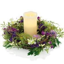Vela Maxx Decoración Corona con led de cera auténtica la guirnalda flores