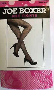 +Joe Boxer Fashion Tights M/L Hot Neon Pink Fuchsia Halloween Costume Hooker