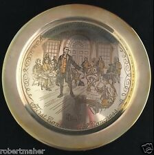 Danbury Mint Sterling Plate American Bicentennial First Continental Congress