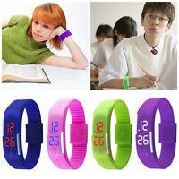 Unisexe LED Bracelet Montre Silicone Digital étanche Sport Touch Enfant Cadeau