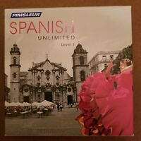 NEW Pimsleur SPANISH Unlimited Level 1 Language Course 15+ Hour 30 Lessons CDROM
