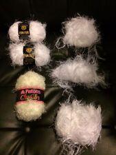 Lion Brand Fancy Fun Fur Eyelash White Yarn