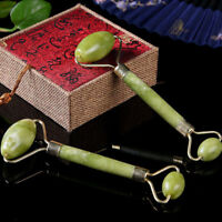 1pc face body spa massage roller facial massager jade stone anti-aging Cw