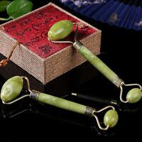 1X Cara masaje rodillo masajeador facial piedra jade terapia antienvejecimie.kn
