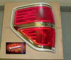 New 2009 2010 2011 2012 2013 2014 Ford F150 XLT Chrome Drivers side Tail Lamp