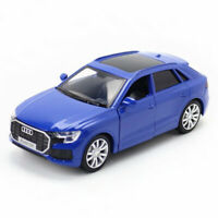 1:36 2019 Audi Q8 SUV Die Cast Modellauto Auto Spielzeug Sammlung Pull Back Blau