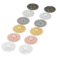 10 x Round Hollow Filigree Charms Pendant DIY Jewelry Findings 36 mm Gold