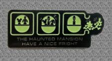 Haunted Mansion WDW Ride Series Pin - DISNEY - Have A Nice Fright - Glow