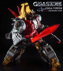 Transformers Gigapower GP HQ02R Grassor Iron Slag Triceratops Plating Edition