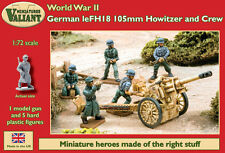 Valiant miniatures-wwii Alemán leFH18 105mm Howitzer & Crew KIT / GUERRA Juego