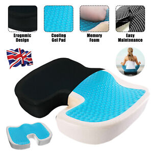 Orthopedic Gel Office Car Chair Seat Cushion Back Support Coccyx Sciatica