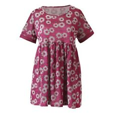 SIMPLYBE Ladies Womens Floral Dress Pink Daisy Print Size 12 14 16 18 20 22