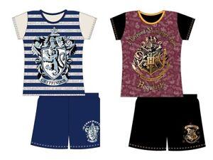 Girls Kids Harry Potter Pyjamas Shorts Nightwear PJs Hogwarts Gryffindor