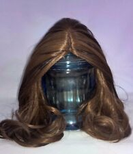 """15-16"""" Custom Doll Wig fit BJD, Reborn and more FOR REAL- WALNUT SWIRL bn1"""