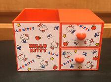 '76 '18 Sanrio Hello Kitty Heart Storage Box Drawer Pencil Or Makeup Rare