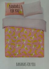 Primark Bananas For You Reversible Double Duvet Set BNWT Fun Quirky