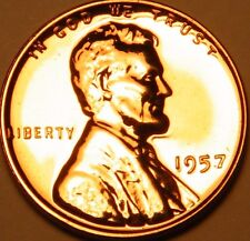 1957 Gem Proof Lincoln Wheat Back Penny US Coin Cents