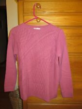 New!!! The Tog Shop Dusty Mauve Med Petite 60% Cotton/40% Acrylic Womens Sweater