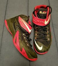Nike Lebron Soldier Men's Black/Red/White Basketball Shoes Size 8.5, 653641-016