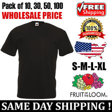 Fruit of The Loom Mens Blank Short Sleeve Cotton HD T Shirt 3930r S-xl Black M