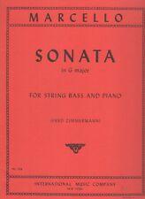 MARCELLO, Sonate en Sol majeur pour Contrebasse et Piano / Sonata in G major ...