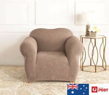Sure Fit DAMASK 1-Seater Sofa Stretch Cover - Mushroom