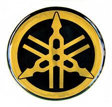 GENUINE Yamaha EMBLEM-30mm Emblema-LOGO-DECAL-STICKER-3cm-Black/Gold-REG. MAIL