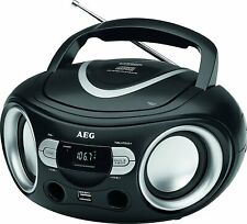 AEG SR 4374 STEREO RADIO CD PLAYER DIGITAL LCD DISPLAY TRAGBAR USB