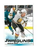 2019-20 UPPER DECK #489 NICOLAS HAGUE YG RC UD YOUNG GUNS ROOKIE GOLDEN KNIGHTS