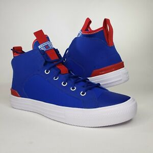 Converse Mens Chuck Taylor All Star Ultra Mid Blue White Sneakers Sz 9 165341c