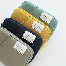 Livework Pocket Card Case Wallet Mini Zipper Womens Bag Business Cards Coin Cash