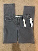 Jones New York Women's Jeans Pant Stretch Straight Leg Gray Size Missy Size 8