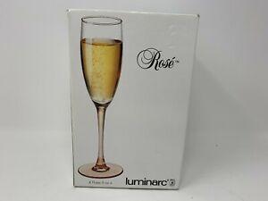 Set of 4 ROSE VERRERIE Cristallerie D'Arques LUMINARC WINE GLASSES 17cl