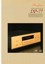 Faltblatt Accuphase DP-77  B566