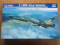 Model Kit Trumpeter Fighter Plane 1/72 01618 F-105G Wild Weasel US Bomber
