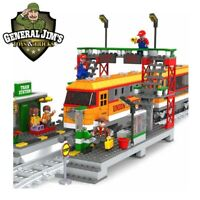 Train Station Model Building Bricks Train Passenger Locomotive AUSINI Lego® Comp