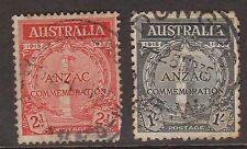 (PDV102) 1935 AU 2set ANZAC (round corners)