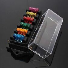 6 Way Fuse Holder Box Blade Fuse Box Block For Car Boat Vehicle Circuit