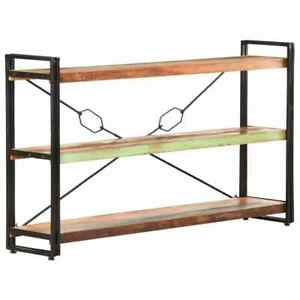 3-Tier Bookcase 140x30x80 cm Solid Reclaimed Wood