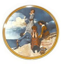 Rockwell's Rediscovered Women Waiting On The Shore Plate Knowles Second Issue