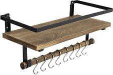 Hot Deal Floating Shelf Wall Mounted, Rustic Wood Shelf for Bathroom Kitchen
