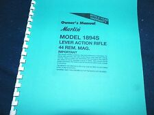 MARLIN  1894,  44 REM. MAG.   OWNERS MANUAL,   12 PAGES