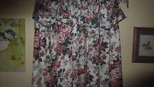 Rare 3 Pc Waverly Pleasant Valley Amanda Valance & 2 Lined Curtains Drapes 42X85