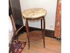 Gueridon, Table Bouillotte Plateau en Marbre, Style Louis XV, Fin XIX ème